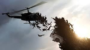 Helicóptero zombies cayendo