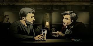 Manu Zapata_El cine (de estreno) fácil de leer_vivazapata.net_ folman hablando con amigo