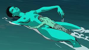 Manu Zapata_El cine (de estreno) fácil de leer_vivazapata.net_ mujer nadando