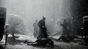 Bajo la lluvia pelea