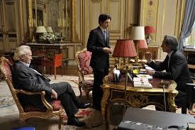 los tres en el gabinete