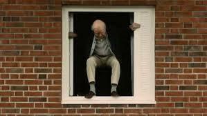 saltando por la ventana