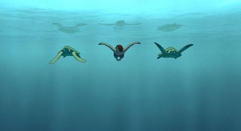 manu-zapata_el-cine-de-estreno-facil-de-leer_vivazapata-net_la-tortuga-roja_el-hijo-buceando-con-las-tortugas