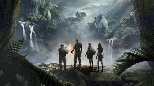 Manu Zapata_El cine (de estreno) fácil de leer_vivazapata.net_JUMANJI-BIENVENIDOS A LA JUNGLA_Con la selva de fondo