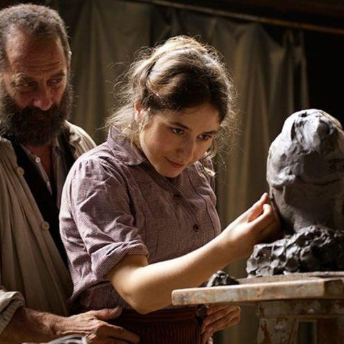Manu Zapata_El cine (de estreno) fácil de leer_vivazapata.net_RODIN_Izia Higuelin y Vincent Lindon escultura
