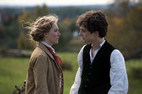 Saoirse Ronan y Timothée Chalamet_Manu Zapata_El cine (de estreno) fácil de leer_vivazapata.net_MUJERCITAS